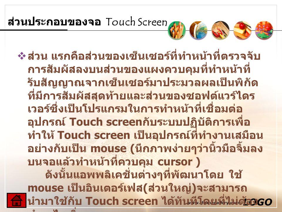 ส่วนประกอบของจอ Touch Screen
