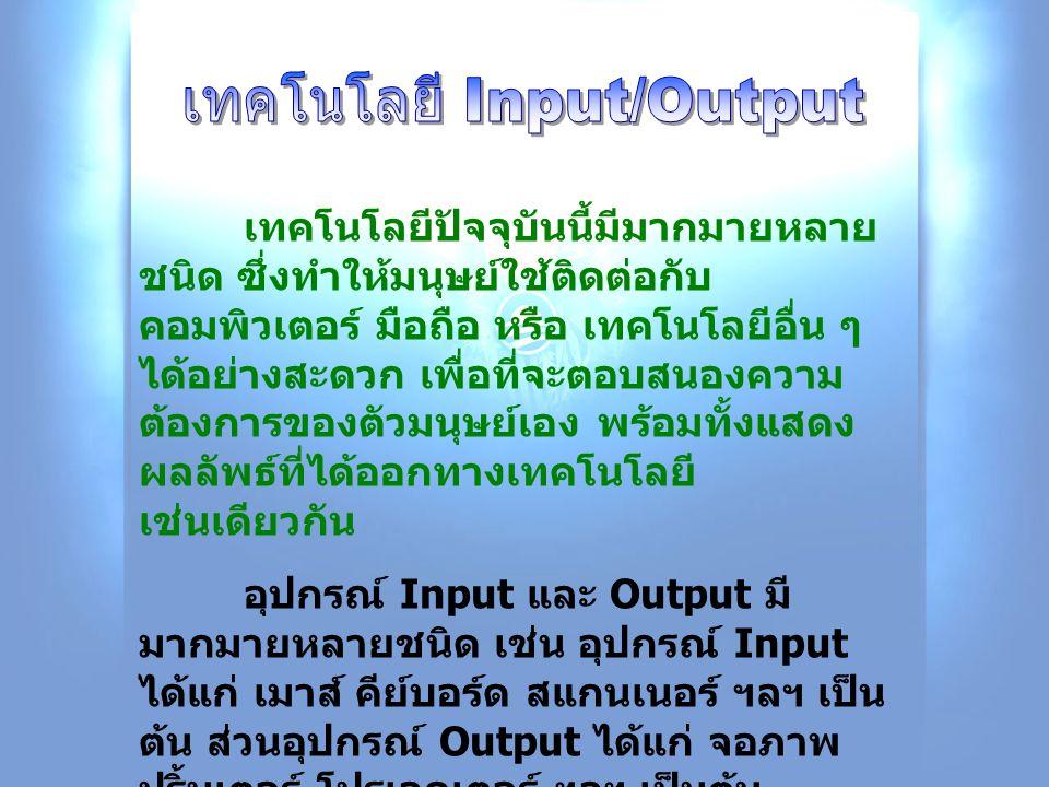 เทคโนโลยี Input/Output