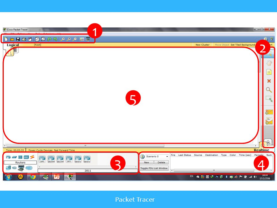 1 2 5 3 4 Packet Tracer