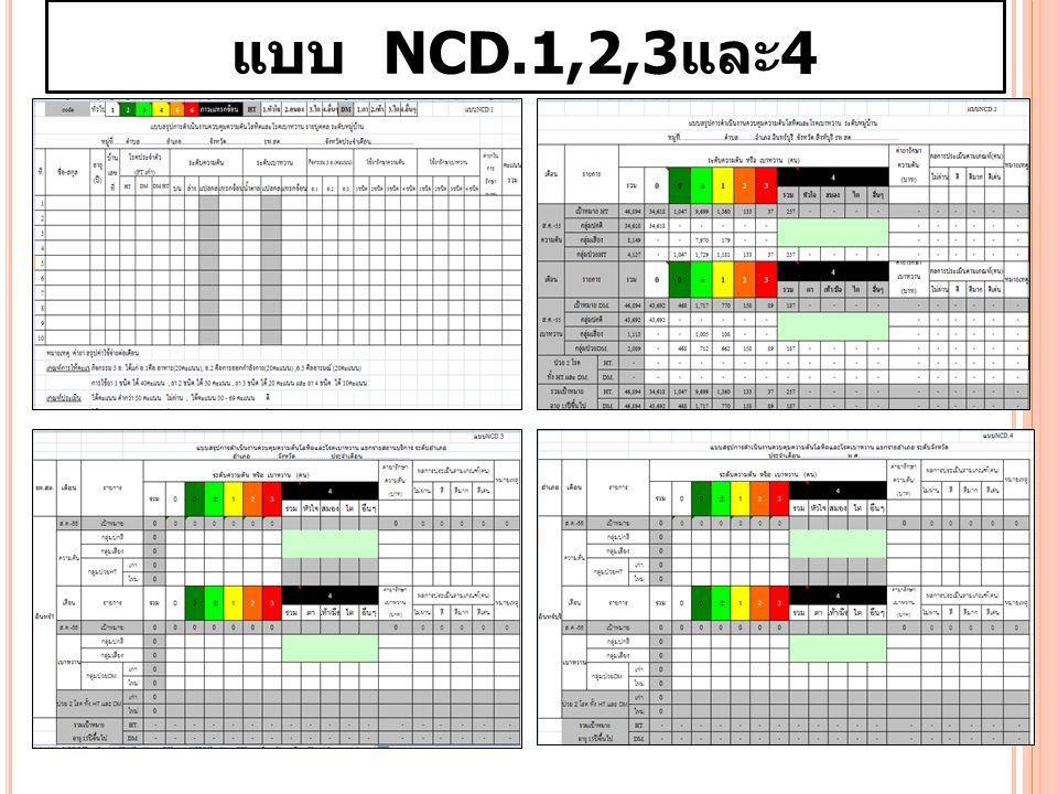 แบบ NCD.1,2,3และ4