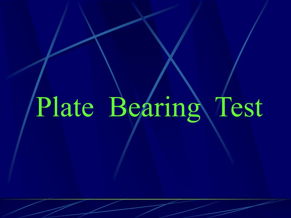 Plate Bearing Test