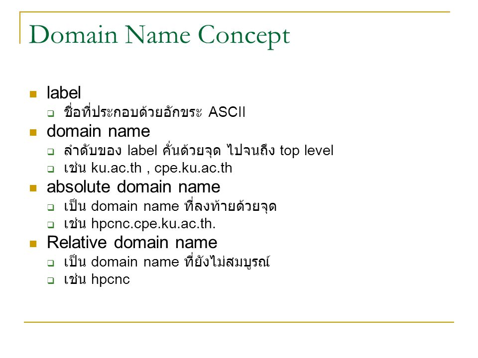 Domain Name Concept label domain name absolute domain name