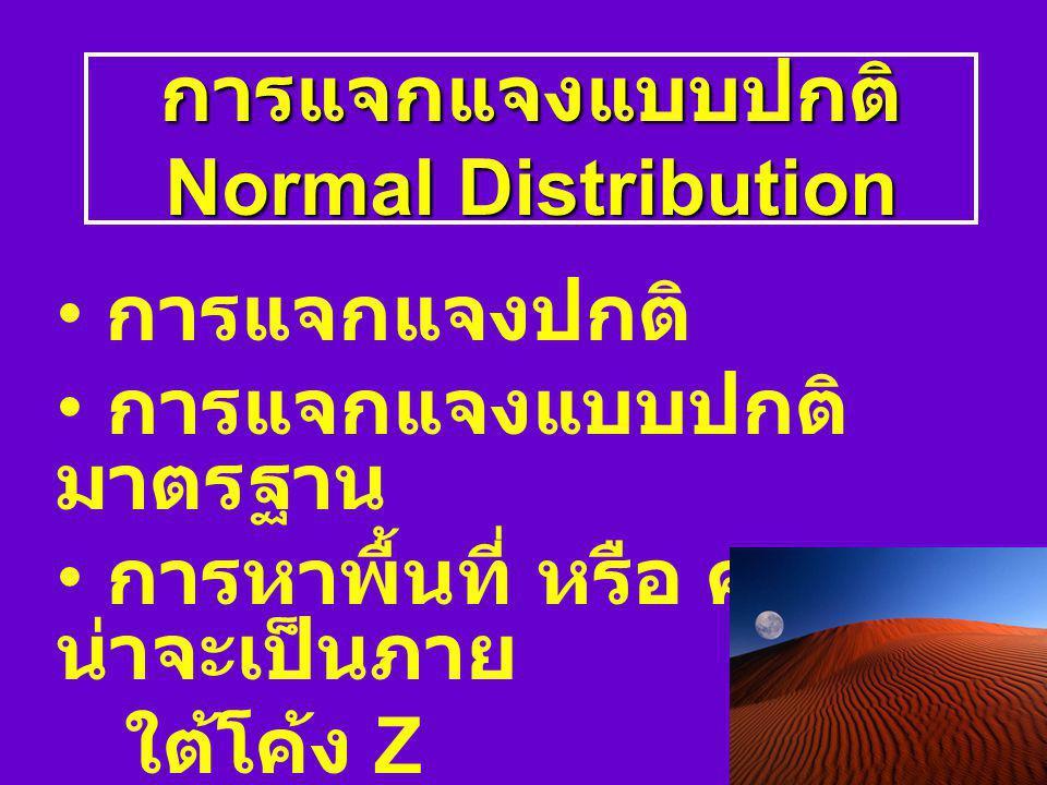 การแจกแจงแบบปกติ Normal Distribution