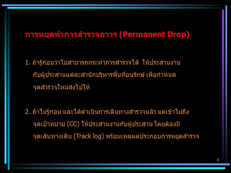 การหยุดทำการสำรวจถาวร (Permanent Drop)