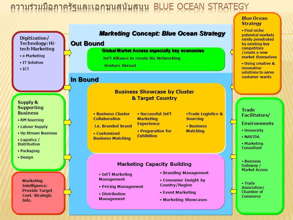 ความร่วมมือภาครัฐและเอกชนสนับสนุน Blue Ocean Strategy
