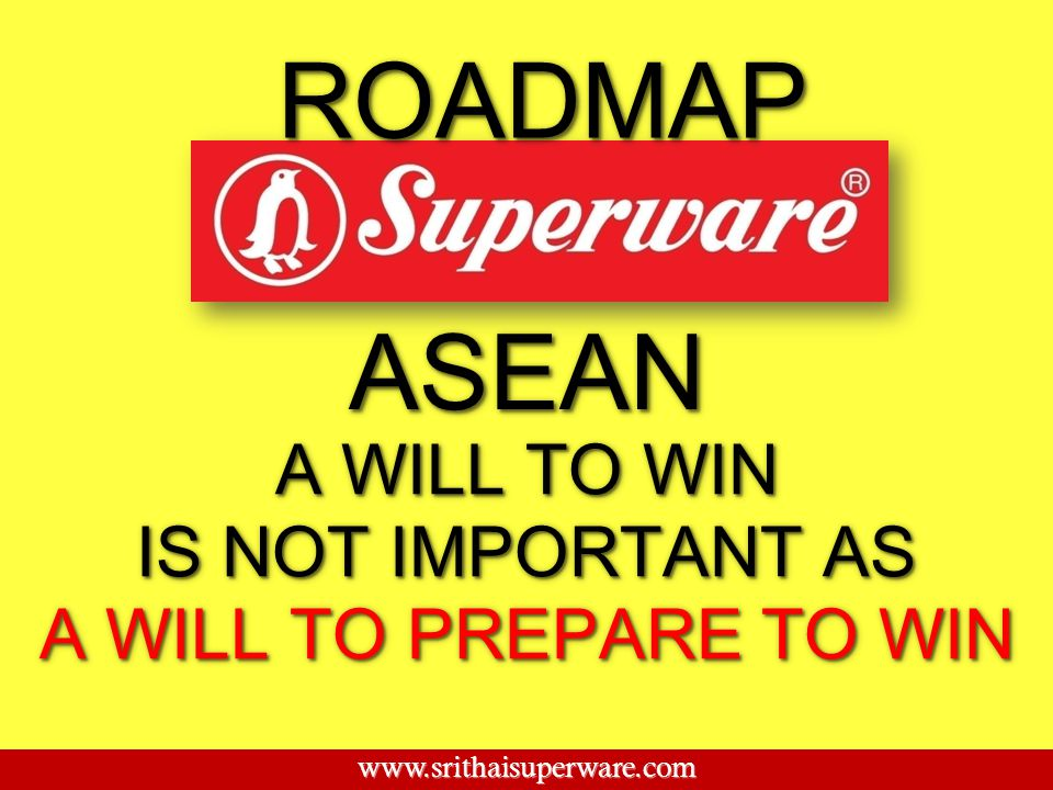 ROADMAP ASEAN A WILL TO WIN IS NOT IMPORTANT AS