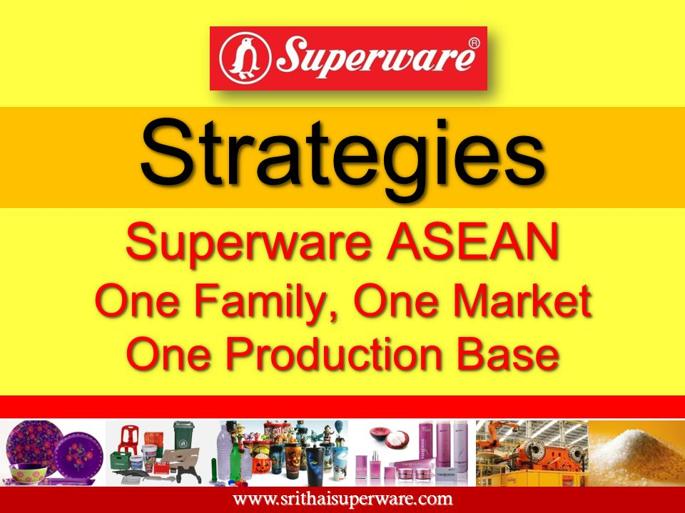 Strategies Superware ASEAN One Family, One Market One Production Base