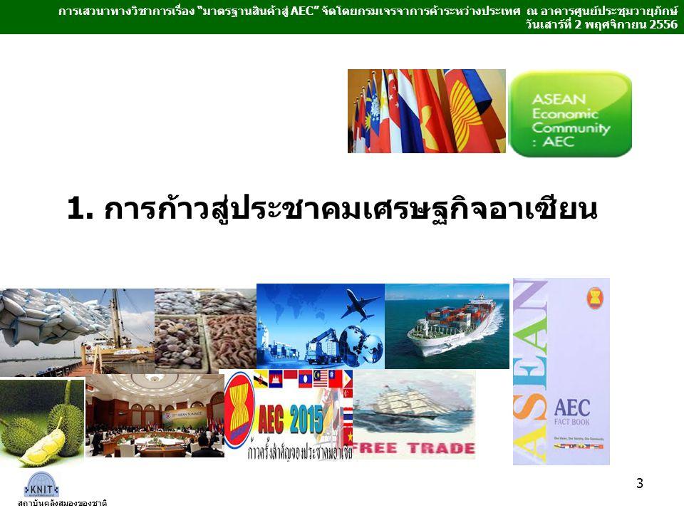 1. การก้าวสู่ประชาคมเศรษฐกิจอาเซียน