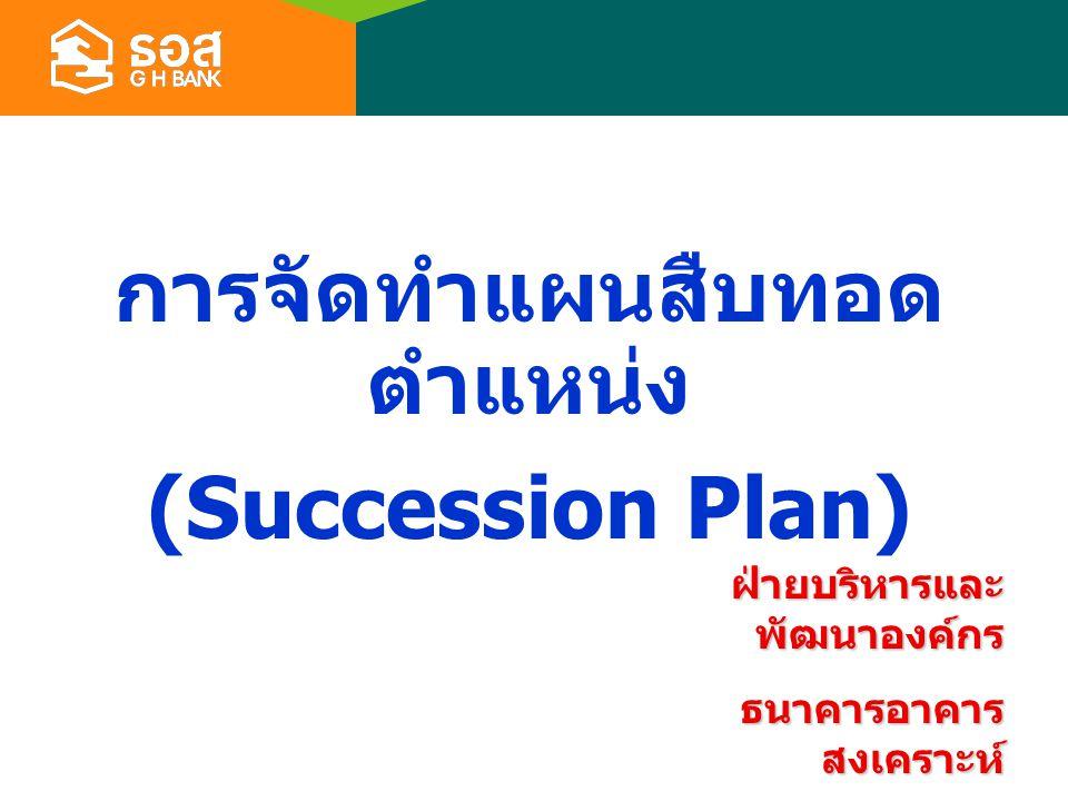 การจัดทำแผนสืบทอดตำแหน่ง (Succession Plan)