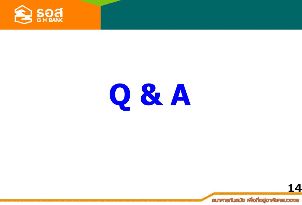 Q & A 14