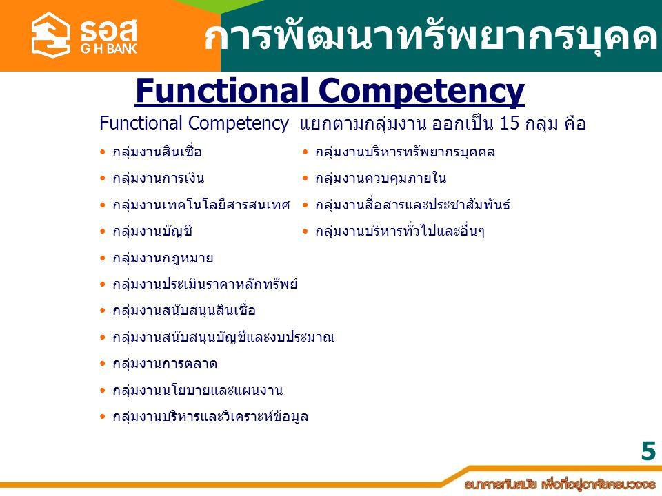 การพัฒนาทรัพยากรบุคคล Functional Competency