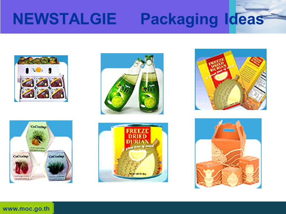 NEWSTALGIE Packaging Ideas
