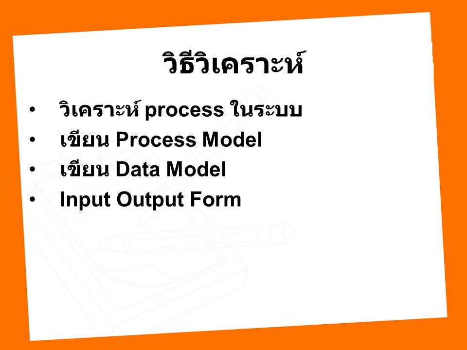 วิธีวิเคราะห์ วิเคราะห์ process ในระบบ เขียน Process Model