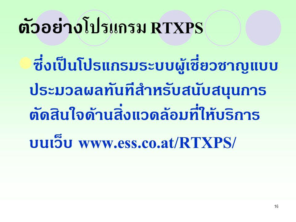 ตัวอย่างโปรแกรม RTXPS
