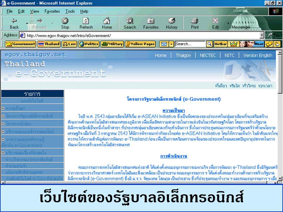 เว็บไซต์ของรัฐบาลอิเล็กทรอนิกส์