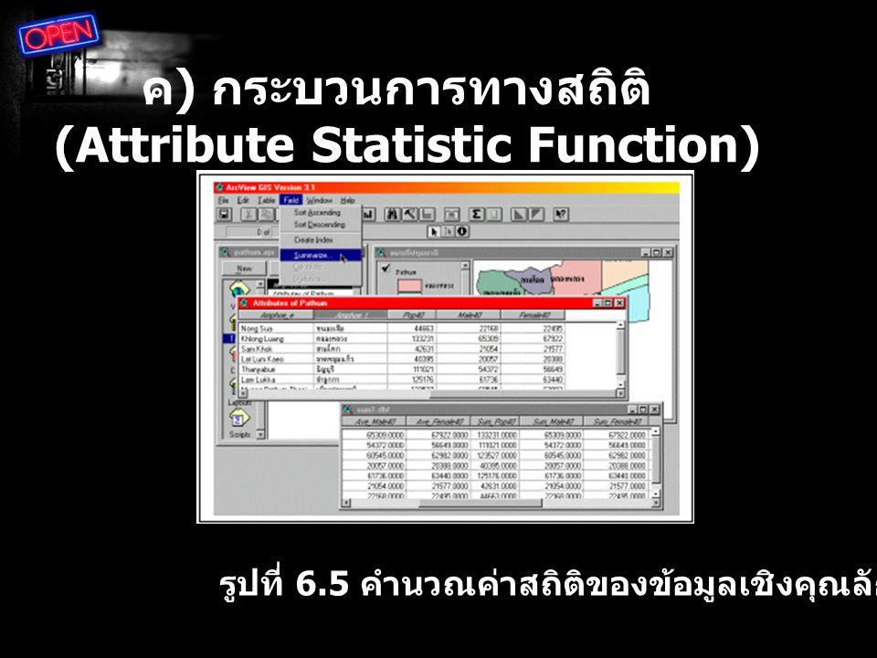 ค) กระบวนการทางสถิติ (Attribute Statistic Function)