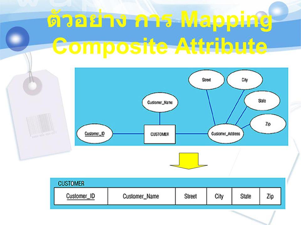 ตัวอย่าง การ Mapping Composite Attribute