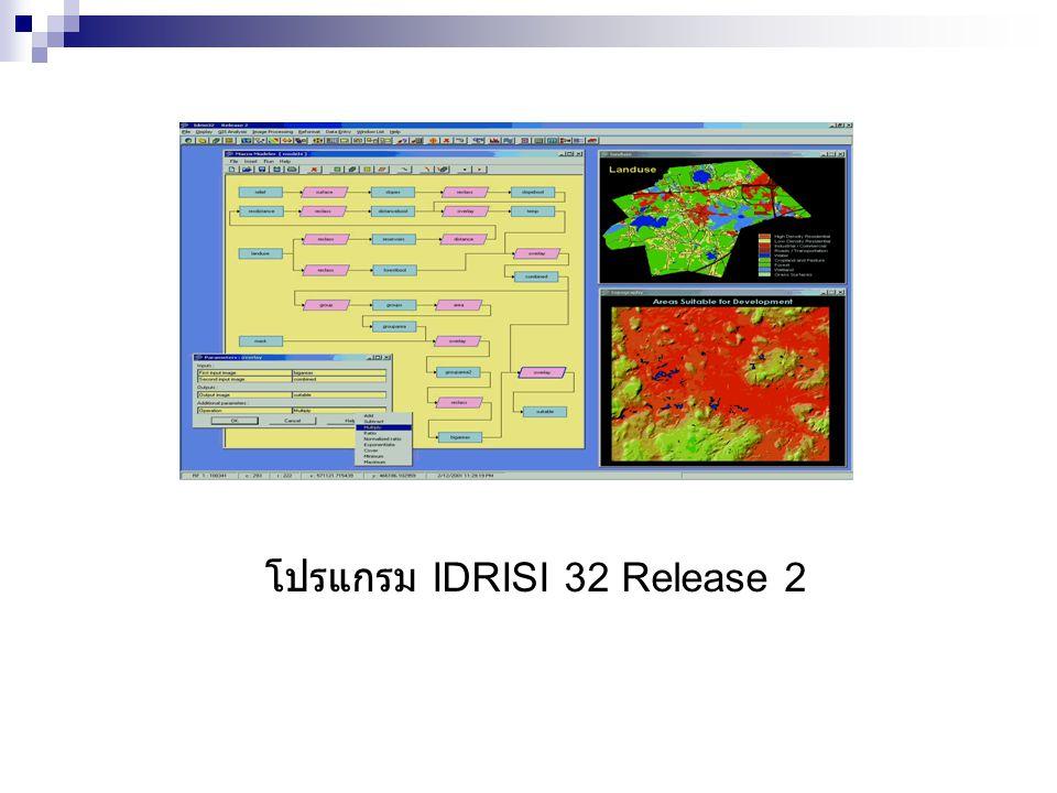 โปรแกรม IDRISI 32 Release 2