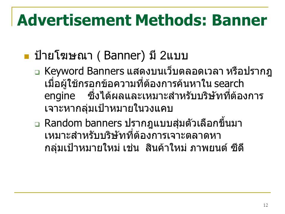 Advertisement Methods: Banner