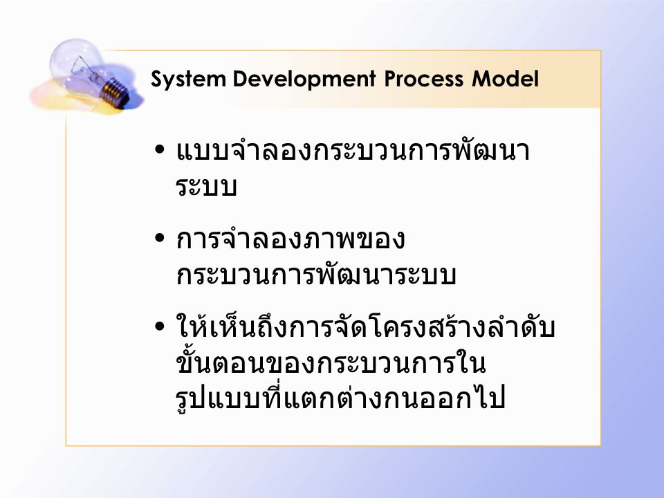 System Development Process Model