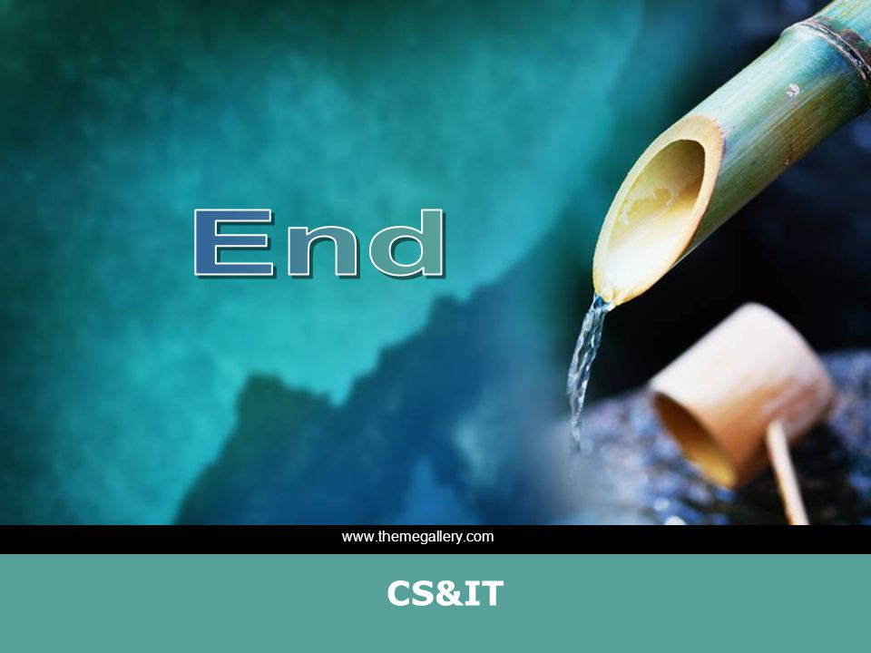End www.themegallery.com