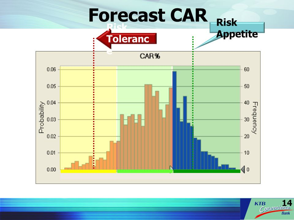 Forecast CAR Risk Appetite Risk Tolerance