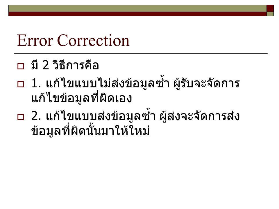 Error Correction มี 2 วิธีการคือ