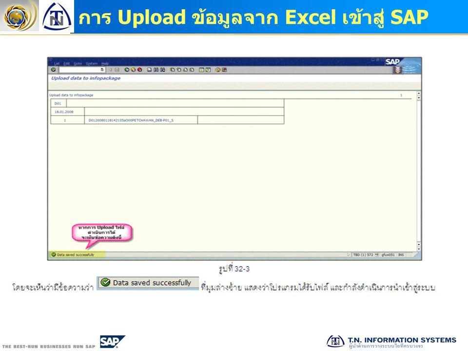 การ Upload ข้อมูลจาก Excel เข้าสู่ SAP