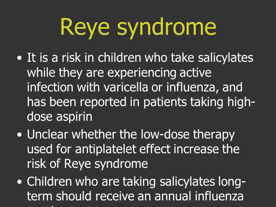 Reye syndrome