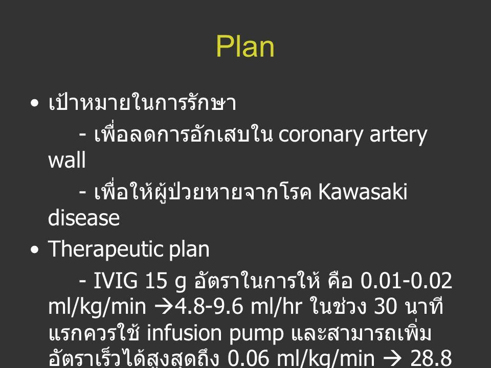 Plan เป้าหมายในการรักษา - เพื่อลดการอักเสบใน coronary artery wall