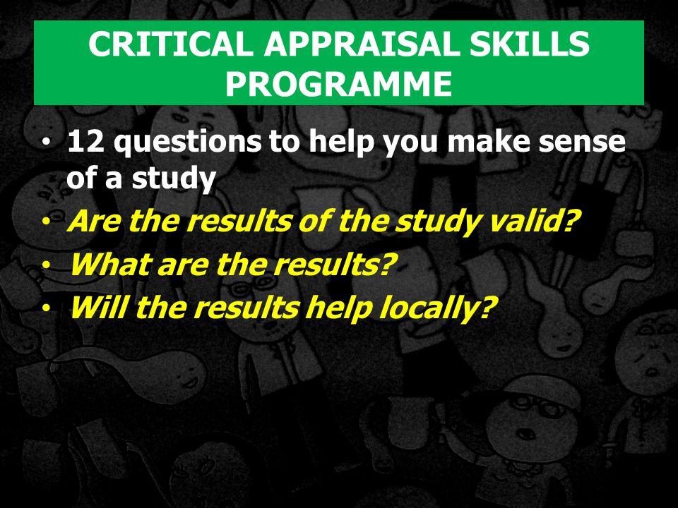 CRITICAL APPRAISAL SKILLS PROGRAMME