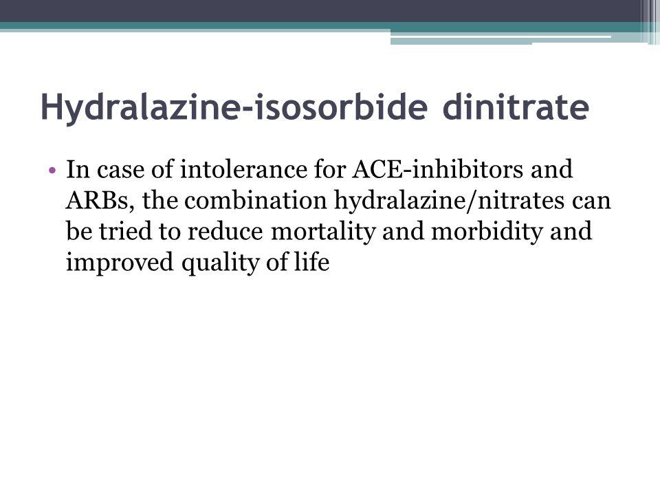 Hydralazine-isosorbide dinitrate