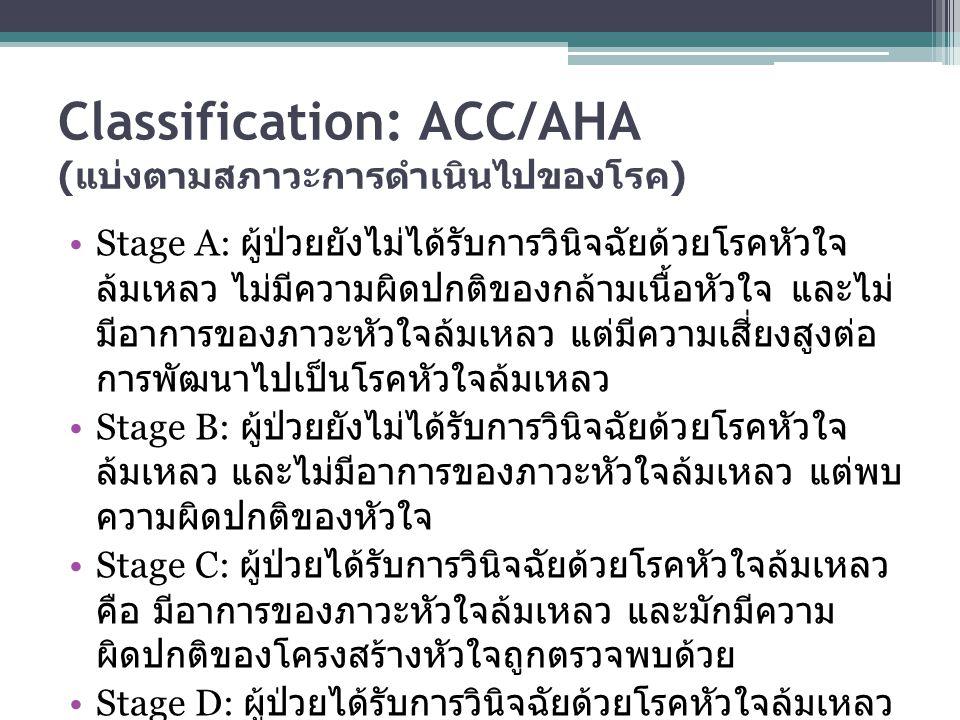 Classification: ACC/AHA (แบ่งตามสภาวะการดำเนินไปของโรค)