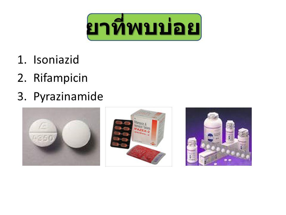 ยาที่พบบ่อย Isoniazid Rifampicin Pyrazinamide
