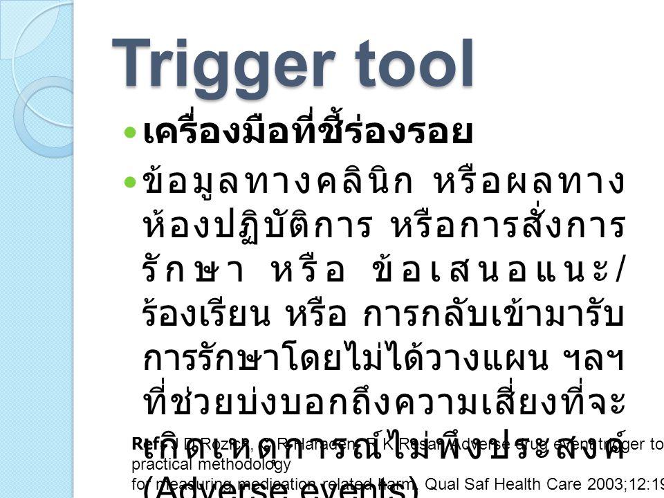 Trigger tool เครื่องมือที่ชี้ร่องรอย
