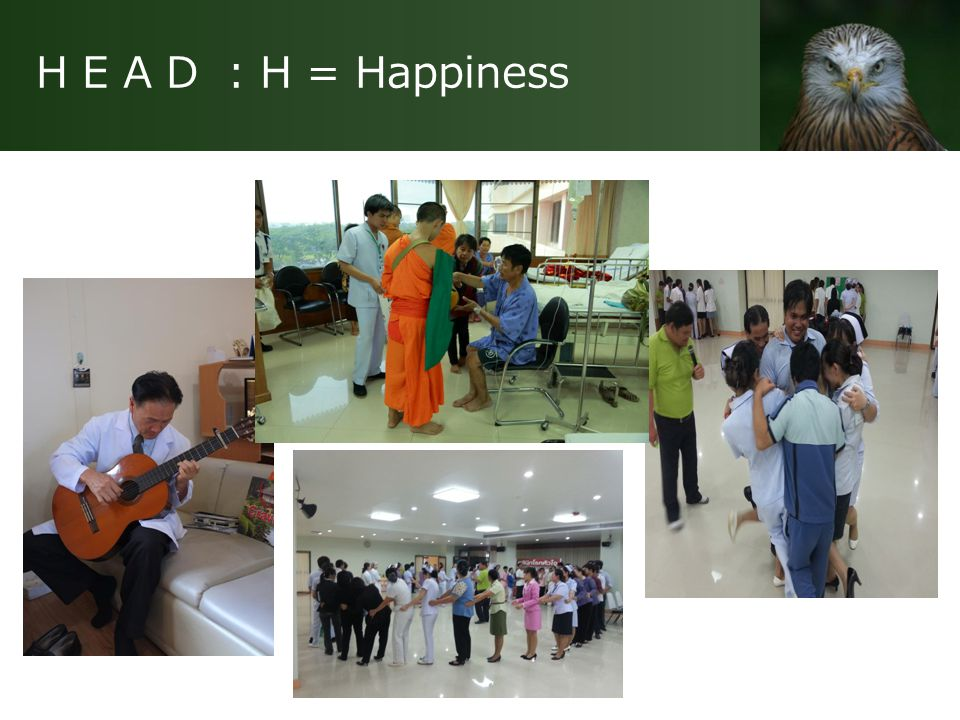 H E A D : H = Happiness