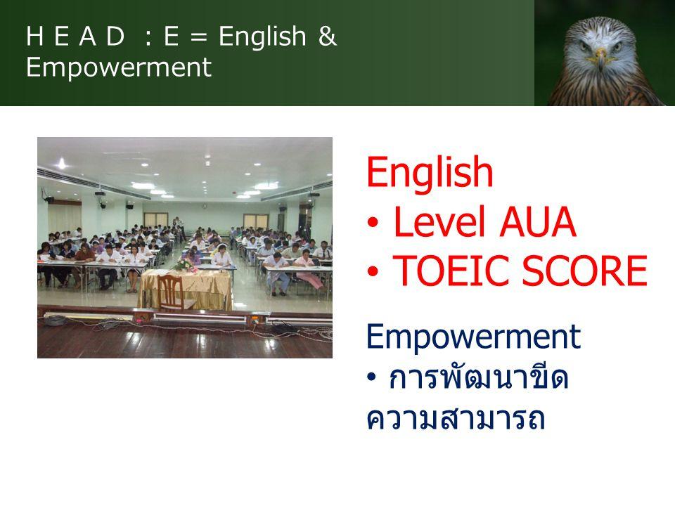 H E A D : E = English & Empowerment