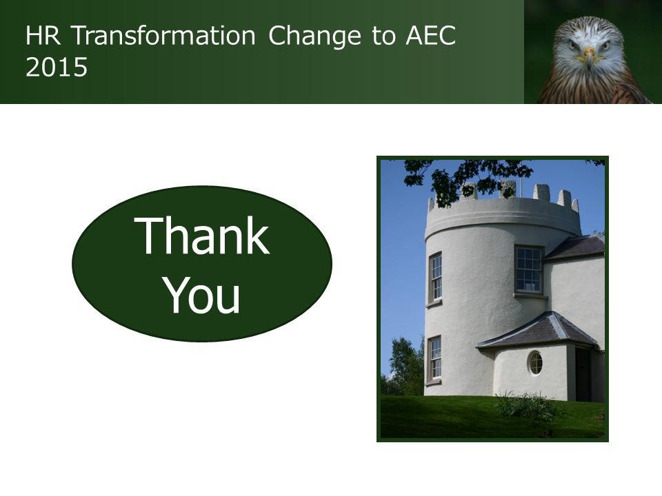 HR Transformation Change to AEC 2015