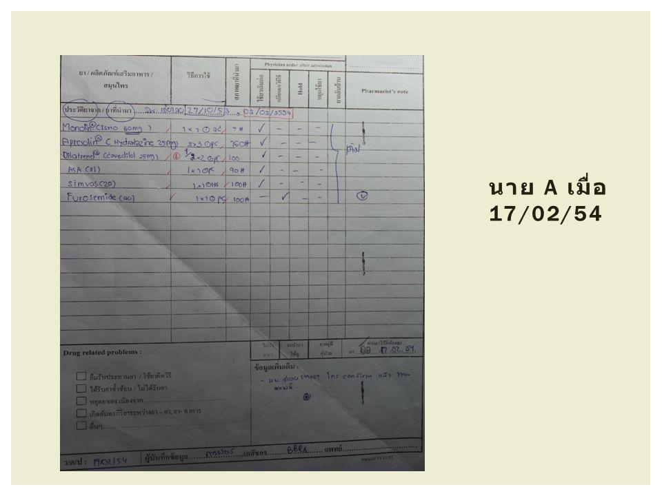 นาย A เมื่อ 17/02/54