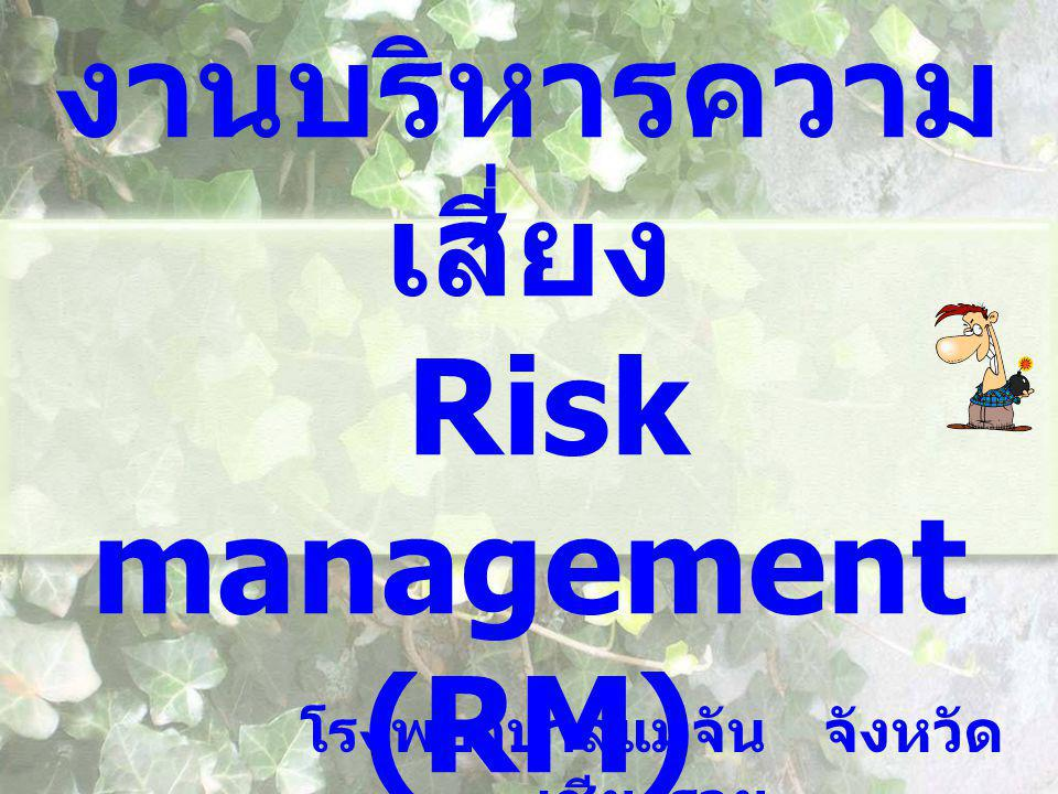 งานบริหารความเสี่ยง Risk management (RM)