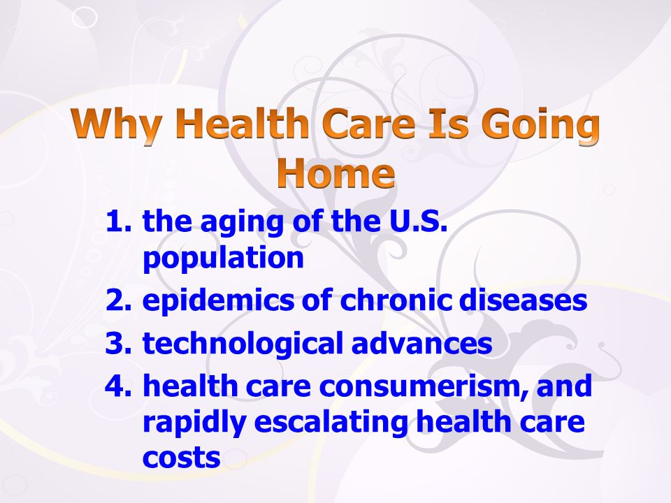 Why Health Care Is Going Home