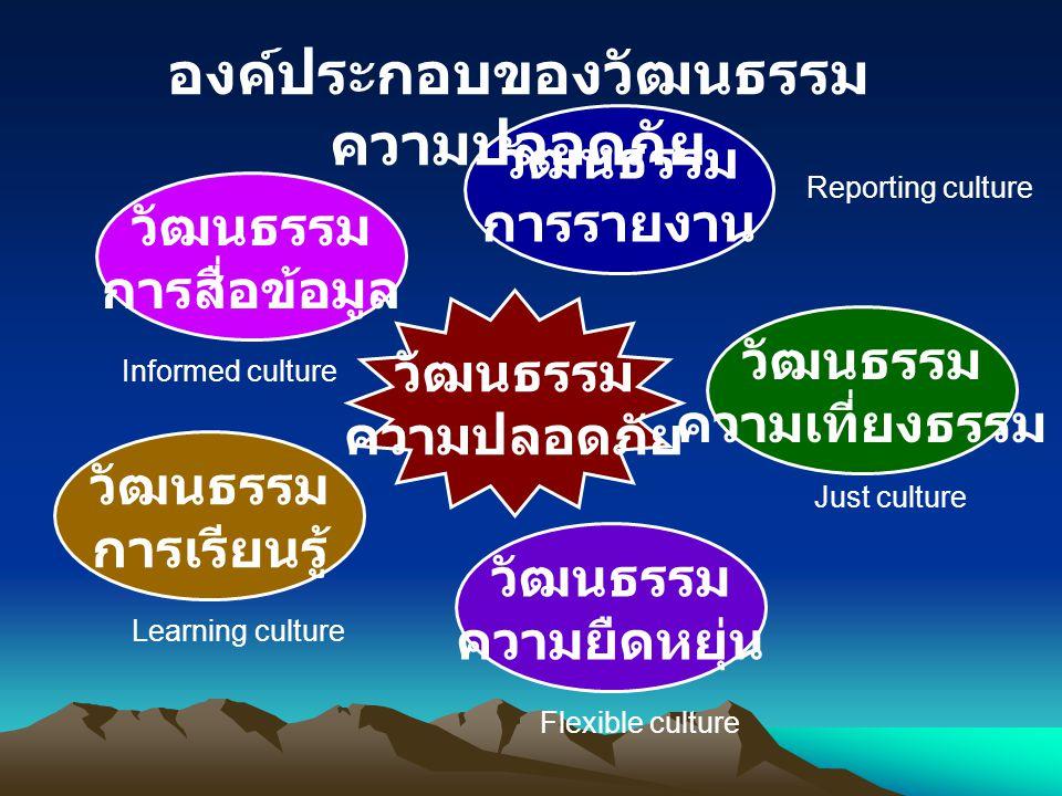องค์ประกอบของวัฒนธรรมความปลอดภัย