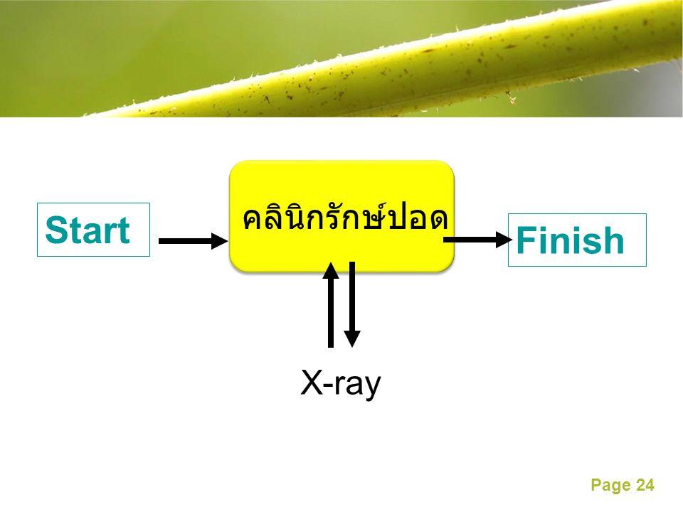 คลินิกรักษ์ปอด Start Finish X-ray