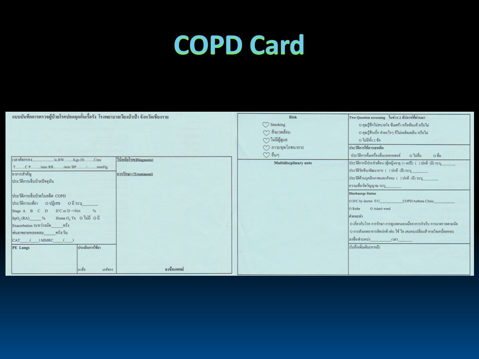 COPD Card