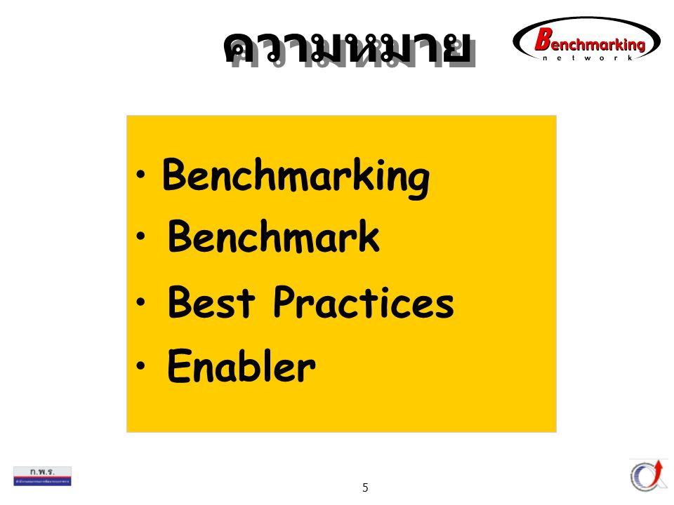 ความหมาย Benchmarking Benchmark Best Practices Enabler