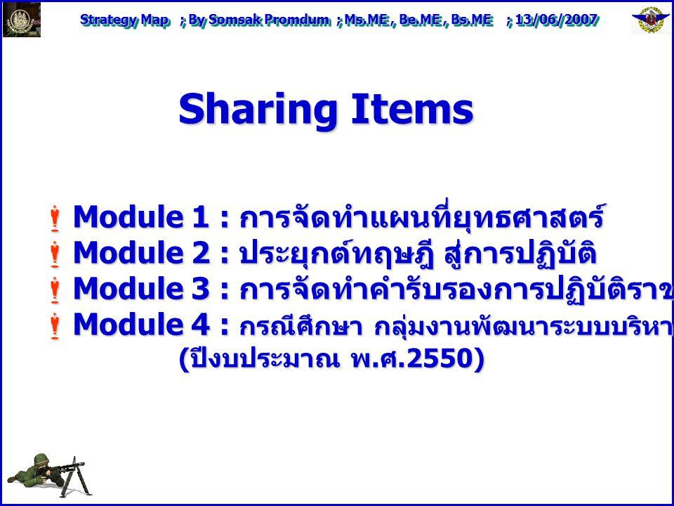 Sharing Items Module 1 : การจัดทำแผนที่ยุทธศาสตร์