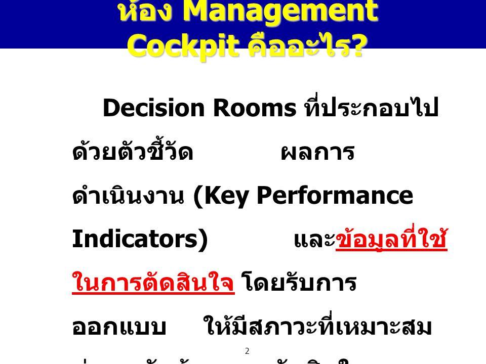 ห้อง Management Cockpit คืออะไร