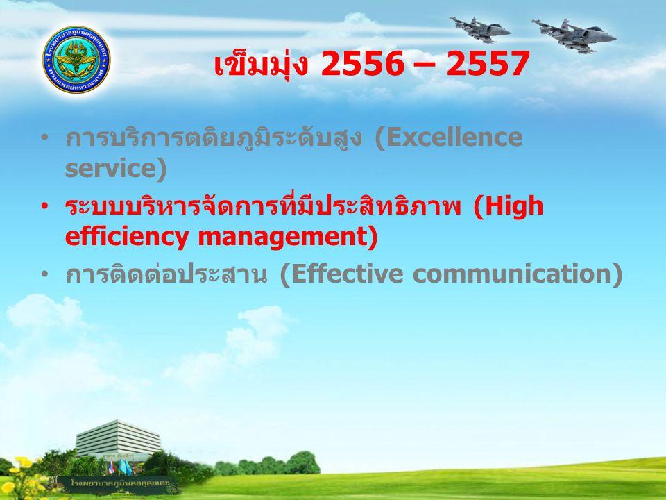 เข็มมุ่ง 2556 – 2557 การบริการตติยภูมิระดับสูง (Excellence service)