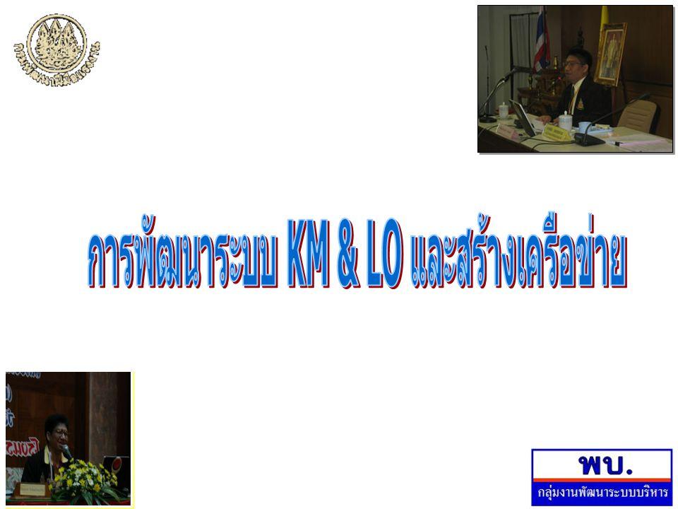การพัฒนาระบบ KM & LO และสร้างเครือข่าย