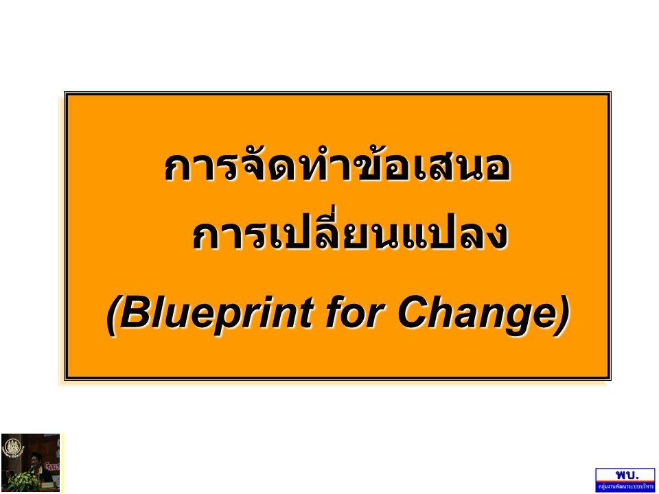 การจัดทำข้อเสนอ การเปลี่ยนแปลง (Blueprint for Change)